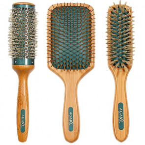 Agave Healing Oil Natural Bamboo Brush